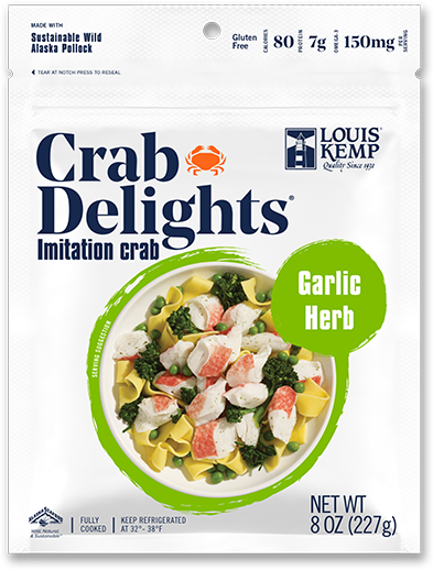Louis Kemp Crab Delights Garlic Herb Flake Style