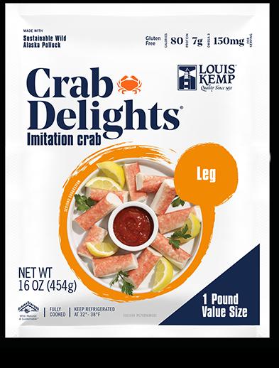 Louis Kemp Crab Delights Leg Style 1 Pound