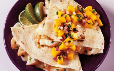 Seafood Quesadillas with Mango Salsa