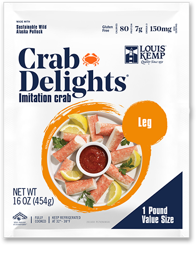 Louis Kemp Crab Delights Leg Style 1 Pound