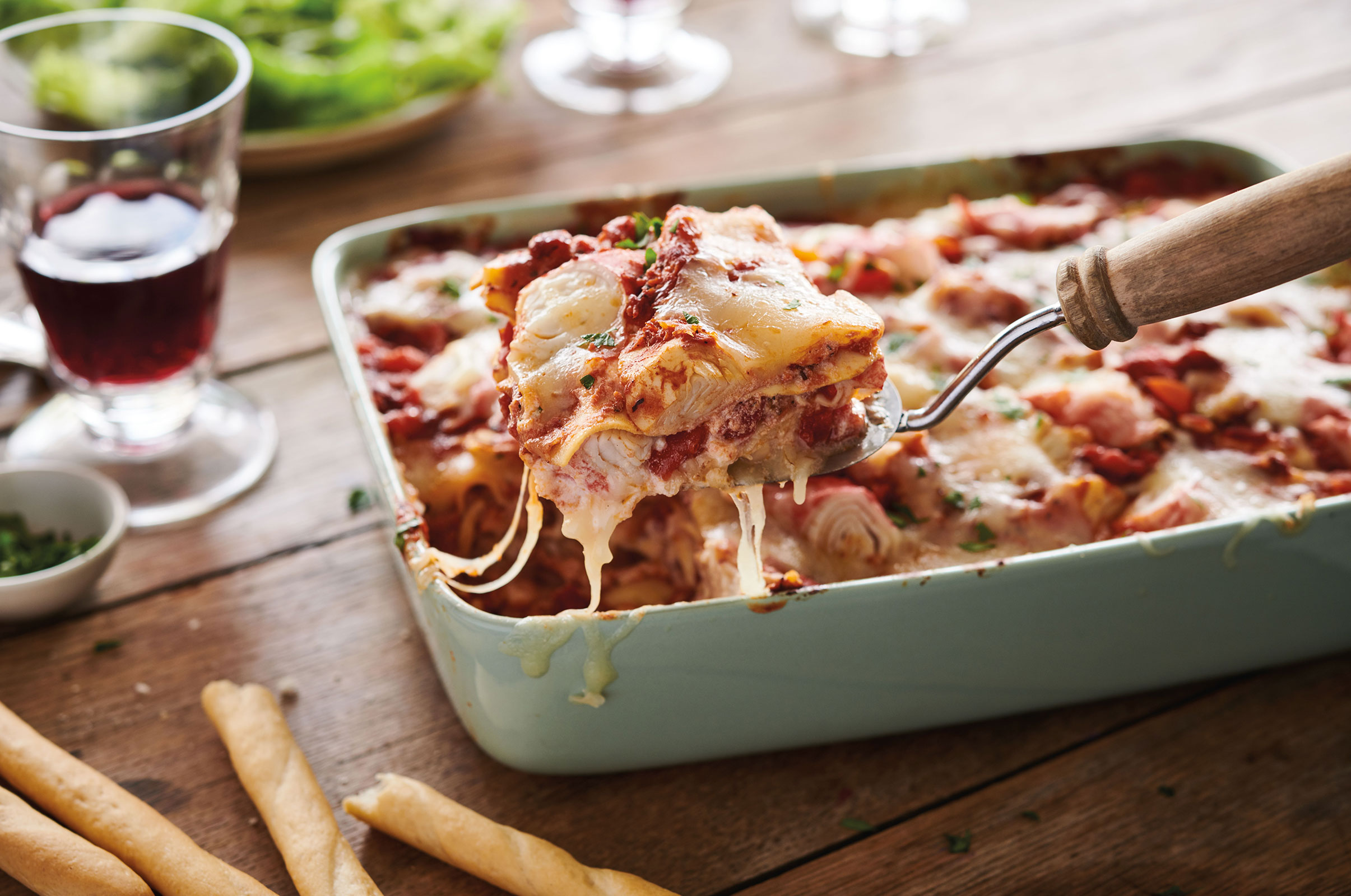 Crab Delights Pepperoni Lasagna