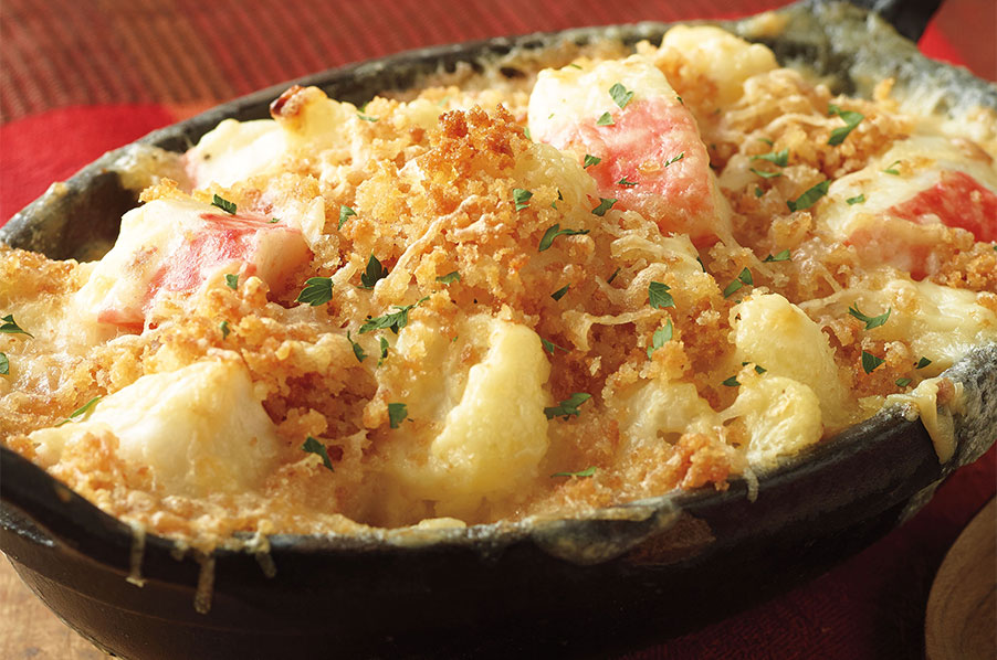 Seafood and Cauliflower Gratin