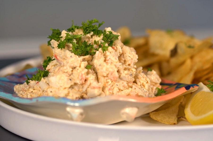 Buffalo Crab Dip made with Louis Kemp Drab Delights